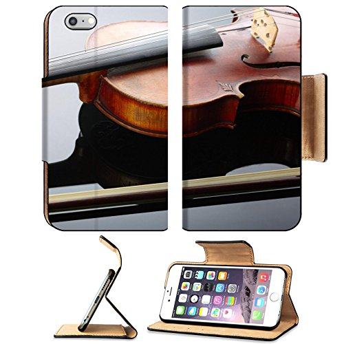 Liili Apple iPhone 6 Plus iPhone 6S Plus Pu Leather Flip Case Violin and bow on dark background iPhone6 Plus Image ID 22230959 (Usb Instrumental Microphone)