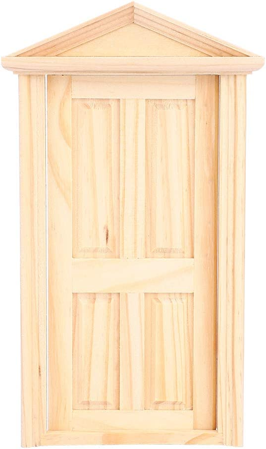 YOUTHINK 1:12 Puerta de la Casa de Muñecas, Miniaturas de la Casa de Simulación de Muñecas Diy Accesorios de Muebles de la Puerta de la Aguja de Madera
