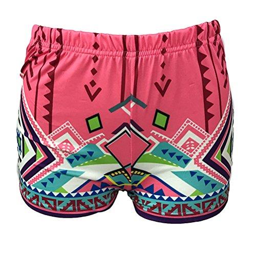 stampati Slimming Chic Skinny Slim Shorts Pantaloncini Sexy Oudan Rosso da donna Sports ZqtwxvB