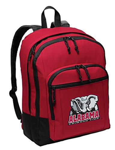 Alabama Crimson Tide Laptop Backpack - Broad Bay Alabama Backpack Medium Classic Style with Laptop Sleeve