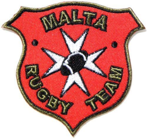 3-Pack MALTA RUGBY TEAM Shield Logo Sign Patch Iron on Applique Embroidered Sew T shirt Jacket Costume