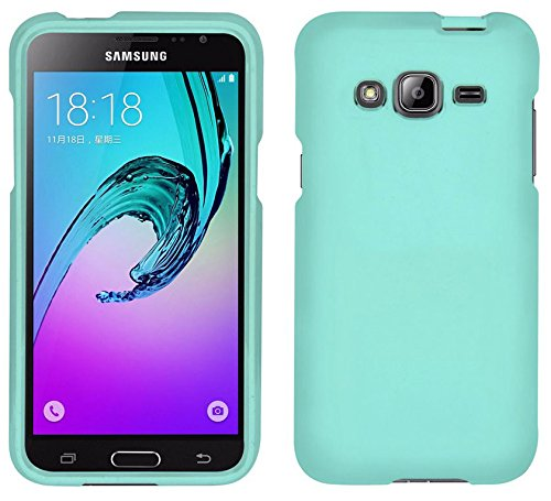 MINT RUBBERIZED HARD SHELL PROTECTOR CASE COVER FOR AT&T SAMSUNG GALAXY EXPRESS PRIME SM-J320A ()
