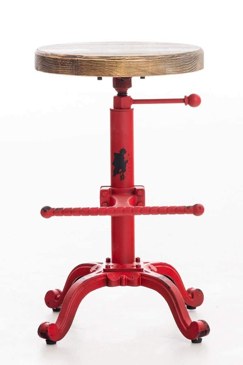 Topower Industrial Retro Vintage Farm Wooden Tractor Stool Kitchen Swivel Height Adjustable bar Stool Copper