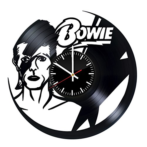 David Bowie Vinyl Wall Clock Music Bands and Musicians Themed Travel Gift