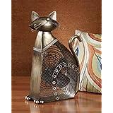 DecoBREEZE Large Cat Figurine Fan Two-Speed Electric Circulating Fan