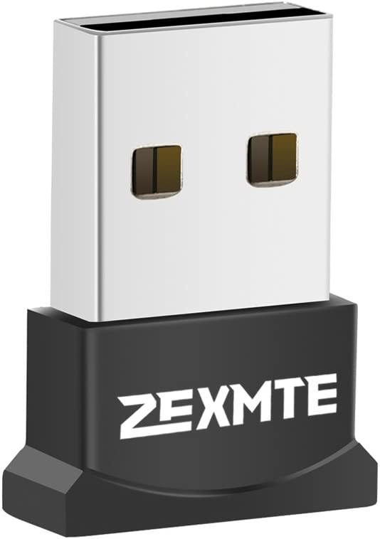 ZEXMTE USB Bluetooth Adapter for PC, Bluetooth 4.0 USB Adapter Wireless Dongle Adapter Compatible with PC Desktop and Computer with Windows 10 8.1 8 7 Vista XP