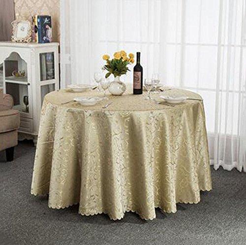 QIN PING GUO QPG Hotel-Tischdecke-Tuch europäisches Gaststätte-Hotel-Tischdecke nach Maß Kaffee-Tabellen-runde runde Tisch-Tischdecke-Tischdecke (Farbe   B, größe   180cm) B07CSMGKM3 Tischdecken Tadellos     | Verschiedene Waren