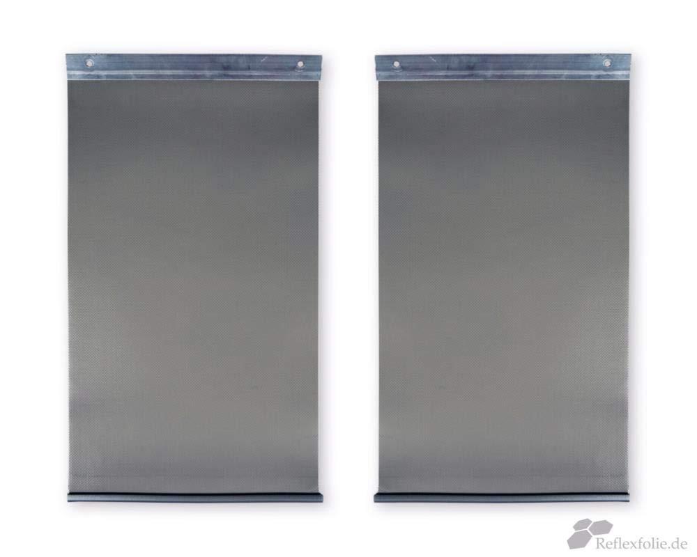 PVC Streifenvorhang  Lamellen Streifen  B3,50m x H2,75m Edelstahl V2A 1.4301