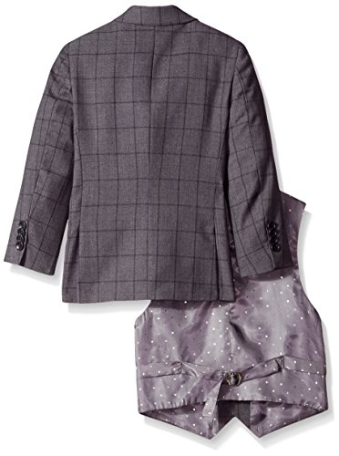 Isaac Mizrahi Little Boys' 3 Piece Check Suit, Grey, 3 by Isaac Mizrahi (Image #2)