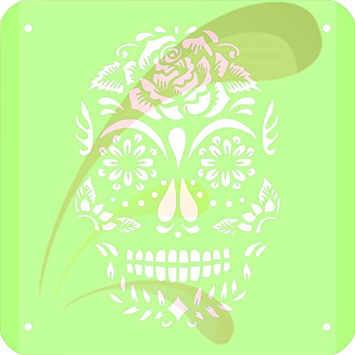 Skull, Cookie stencil, Cake Stencil, Coffee Stencil, Candy Stencil, Cupcake stencil for Royal Icing, powders, sugars, edible glitters and Airbrushing]()