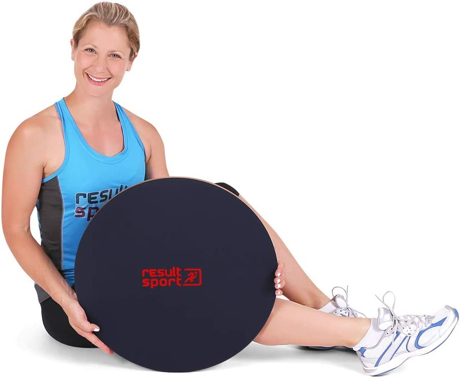 Prevent Knee Balance Board Rehabilitation Improves Balance Treatment ResultSport Wooden Wobble//Balance Board with Anti-Slip PVC surface with A3 Colour Exerciser Poster Ankle Injuries