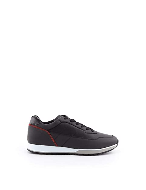 Hogan Hombre HXM3210AK30JBW6EE2 Negro Cuero Zapatillas: Amazon.es: Zapatos y complementos