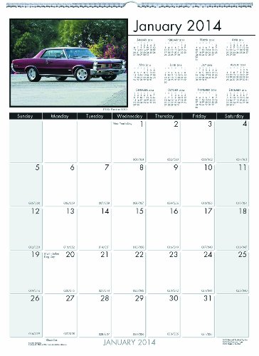 Doolittle Classic Cars - House of Doolittle Earthscapes Classic Car Wall Calendar 12 Months January 2014 to December 2014, 12 x 16.5 Inches, Full Color Photo, Recycled (HOD3772)