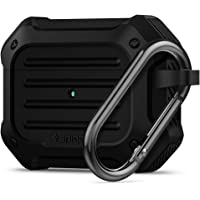 SPIGEN [Tough Armor] Airpods Pro Case Cover with Shock Resistance Designed for Apple Airpods Pro (2019) [FRONT LED VISIBLE] - Black