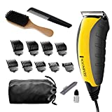 Remington HC5855 Virtually Indestructible Haircut Kit & Beard Trimmer, Hair Clippers for Men (15 pieces)