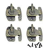 CGMJ 4 Pack Table Buckle Dinning Table Locks Connectors Hardware Accessories (Bronze)
