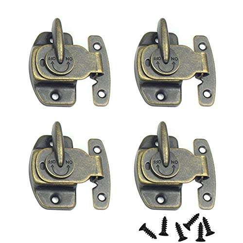 CGMJ 4 Pack Table Buckle Dinning Table Locks Connectors Hardware Accessories (Bronze) by CGMJ