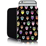 'Cute Owls' Fashion case for Apple IPHONE 6 & 6S (4.7inch) Slip Pouch (L) Cover