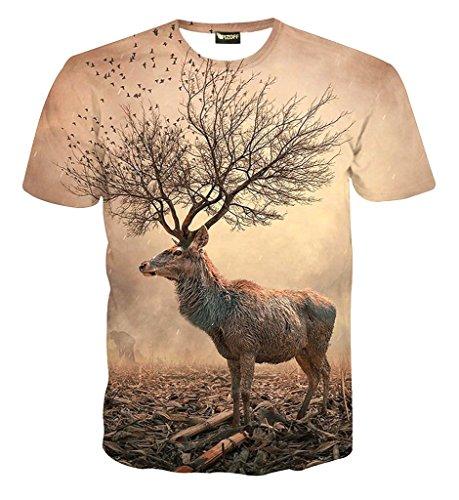 Le Avec T Visage Pizoff Imprimer Hop Hip 76 Homme shirt Y1625 X7YAwq