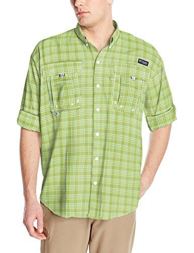 Columbia Mens Super Bahama Long Sleeve Shirt, Spring Multi Plaid, Medium