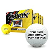 Srixon Z Star 5 Tour Yellow Personalized Golf Balls - Buy 3 Get 1 Free