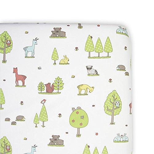 Weegoamigo - Bassinet Fitted Sheet - Forest Friends