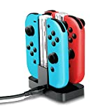 IVSO Joy-Con Charging Grip, Nintendo Switch Charging Dock,Joy-Con Charge Stand with Type-C Charging Port and Electric Light for Nintendo Switch