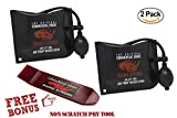 The Original Rhino Strong Commercial Grade Air Wedge Bag 2.0 Pump Professional Leveling Kit & Alignment Tool Shim Bag in the Popular Medium Size (2 Pack).