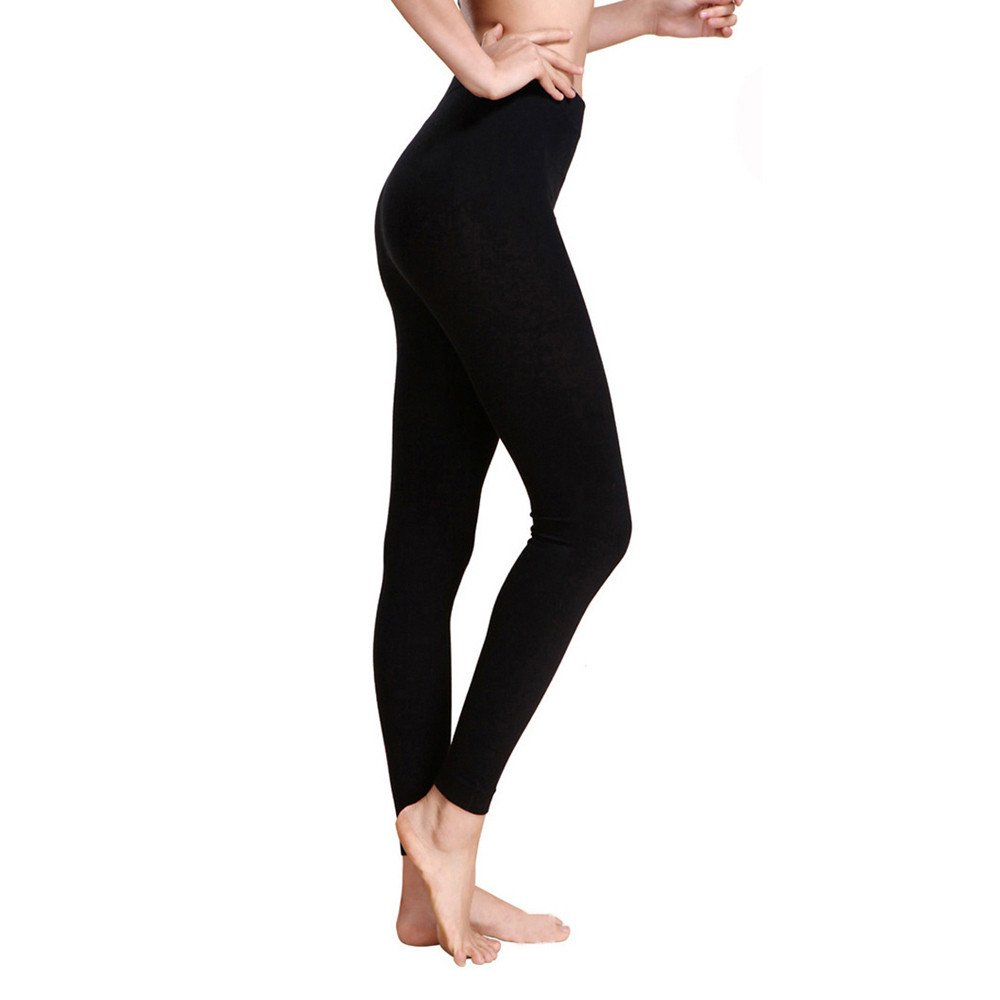 4Clovers High Waist Yoga Pants, Tummy Control, Workout Running Pants for Women 4 Way Stretch Sports Yoga Leggings Black