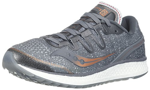 - Saucony Women's Freedom ISO Running Shoe, Grey/Denim, 9 Medium US