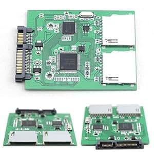 Amazing-Trading 2 puerto Dual anti-shock MMC SD SDHC RAID a SATA adaptador de HOT