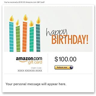 Amazon eGift Card - Happy Birthday (Candles) (B00A48G0D4) | Amazon price tracker / tracking, Amazon price history charts, Amazon price watches, Amazon price drop alerts