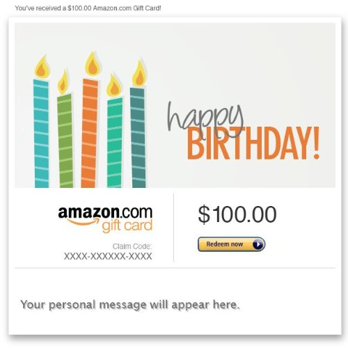 Amazon eGift Card - Happy Birthday (Candles)