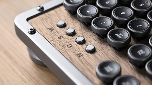 Azio Retro Classic Bluetooth Elwood - Luxury Vintage Backlit Mechanical Keyboard, Brown/Grey (MK-RETRO-W-BT-01-US) by Azio (Image #5)