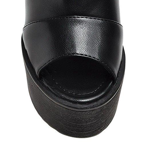 AdeeSu SLC04058 Ouvert Noir Femme 5 36 Bout Noir 8wwdrUZq