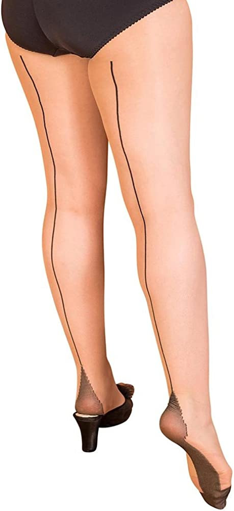 What Katie Did Retro Contrast Seamed Tights