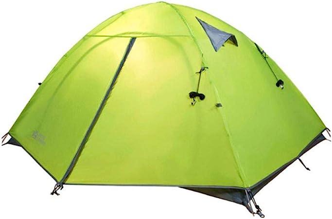 Tienda de campaña para 4 personas Tiendas de playa de pérgola para acampar Tienda de campaña impermeable Tienda de campaña al aire libre Equipo para senderismo Jardín de viaje-4 hombre_Amarillo: Amazon.es: Hogar
