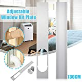 2PCS 130cm Window Slide Kit Plate + 1PC 15cm Window Vent Adapter, 1Set PVC Air Conditioner Hands Tool for Portable Air Conditioner Hose Tube Pipe