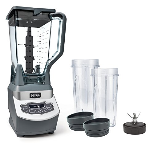 Ninja Professional Countertop Blender with 1100-Watt Base, 72oz Total Crushing Pitcher and (2) 16oz Cups for Frozen Drinks and Smoothies ()
