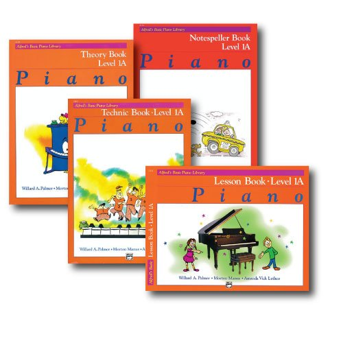 1a Alfreds Basic Piano - Alfred Basic Piano Library Course Pack Level 1A - Four book set includes - Lesson, Theory, Technic and Notespeller Books.