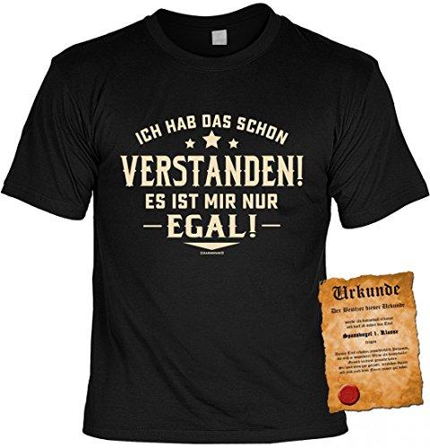 Funshirt - Ich habe das schon verstanden es ist mir nur egal - lustiges T-Shirt inkl. Urkunde im Geschenk Set zum Geburtstag