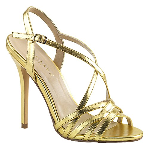 Pleaser AMUSE-13 Damen Gold Mat. Pu