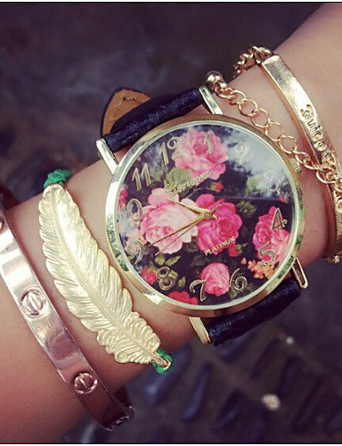 vintage subió flores relojes para las mujeres, para mujer relojes, retro mujeres relojes,