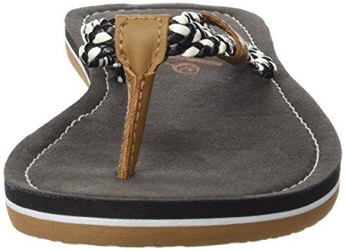 Rip Curl Ivy, Women's Flip Flop Sandals Black / Marrón Claro