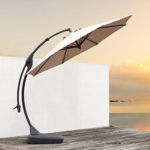 grand patio deluxe 10 ft curvy aluminum offset umbrella. Black Bedroom Furniture Sets. Home Design Ideas