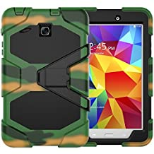Galaxy Tab E 8.0 Heavy Duty Case, SM-T377/SM-T375 Shock Proof With Kickstand Built-in Screen Full- Body Protective Case for Samsung Galaxy Tab E T377 /T375 8.0 inches