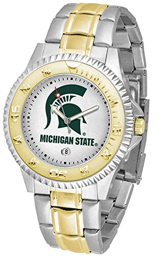 Michigan State University Men's Two Tone Dress Watch