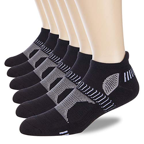 LITERRA Men's Athletic Ankle Running Socks Performance Low Cut Sports Tab Socks (6 Pairs)