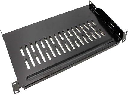 RackMatic Vassoio Mensola per armadio rack 19 con fissaggio frontale 1U profondit/à di 255 mm