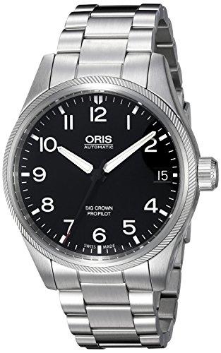 Oris Men's 'Big Crown' Swiss Automatic Stainless Steel Dress Watch (Model: (Big Crown Pointer Date Watch)